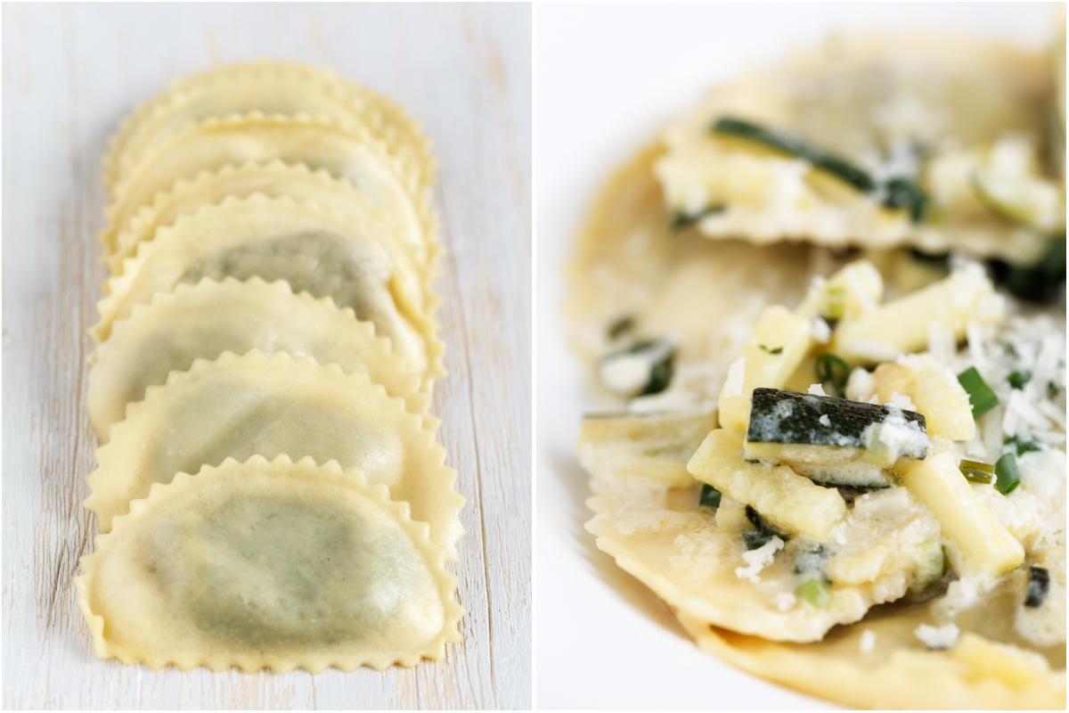 Gefüllte Pasta mit Zucchini