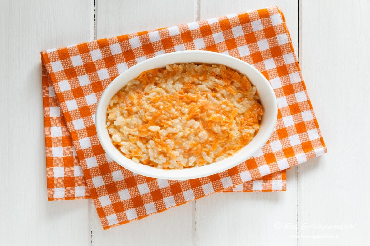 Karotten-Reis-Auflauf